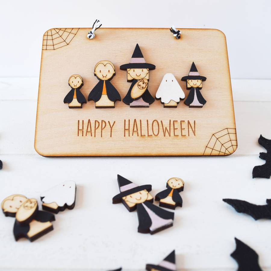 Personalised Halloween Family Sign
