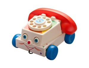 Antique Toy Phone with clipping path