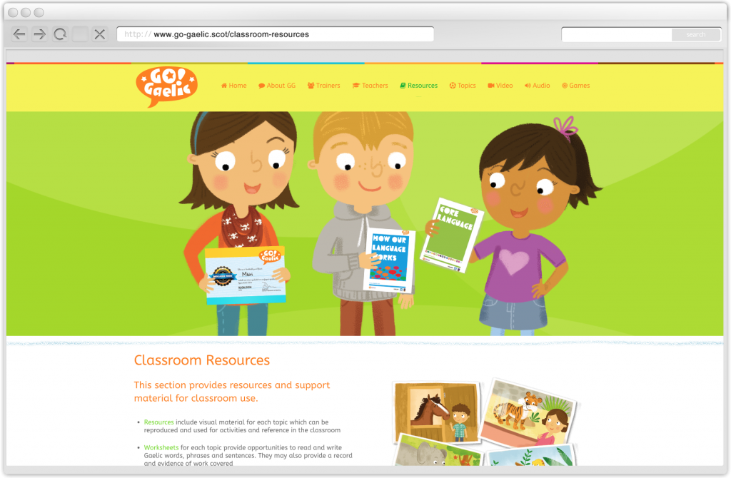 Learn Gaelic in the classroom with Go!Gaelic