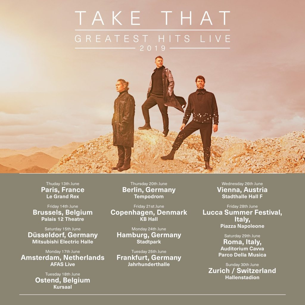 Take That announces Glasgow date