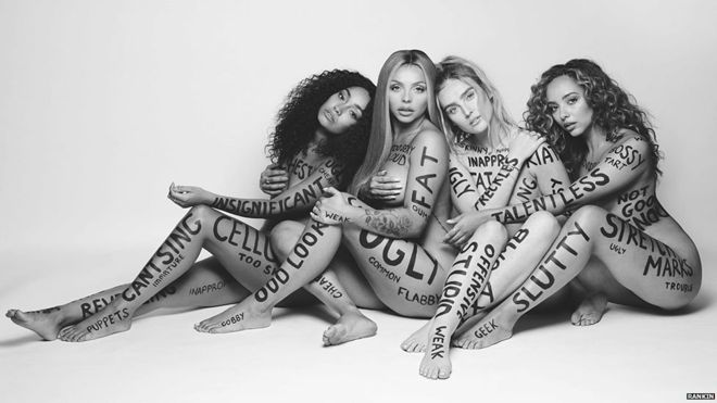 Little Mix strip to promote body positivity